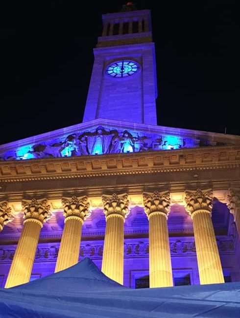 Link Vision lights up Brisbane City Hall at Op Shop Pop Up