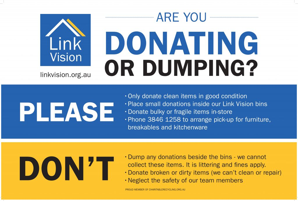 Link Vision Donation Guide